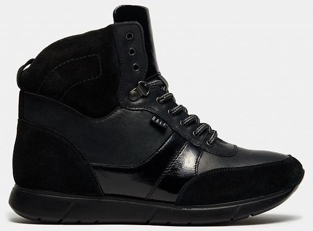Ботинки женские DIVE (цвет черный,  натуральная кожа,спилок,лаковая кожа)