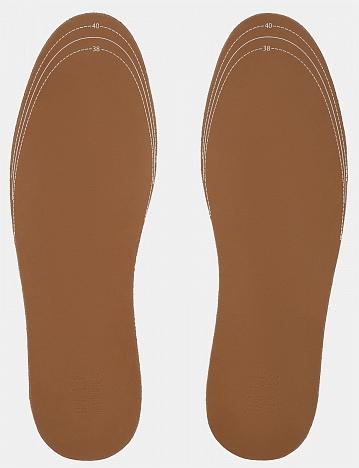 Стельки кожаные на пенной основе, размер 38-41