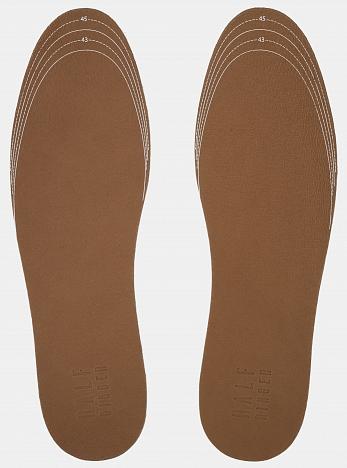 Стельки кожаные на пенной основе, размер 42-46